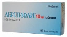 Абилифай  таблетки 10мг 28 шт.