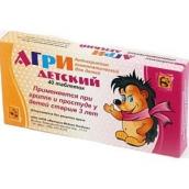 Агри детский (антигриппин гомеопатический) таблетки 40 шт.