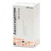 Амоксициллин-Хемофарм 250мг/5мл гранулы для приг. суспензии для приема внутрь 40г флакон 100мл