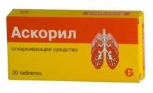Аскорил №20 таблетки