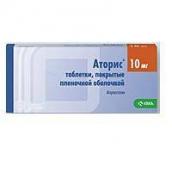 Аторис 10мг №90 таблетки
