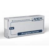 Аторвастатин 20мг №30 таблетки /Алси фарма/