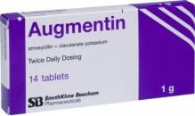 Аугментин 1000мг №14 таблетки