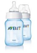 Авент бутылочка для кормления ПП 260мл 2шт, голубая, арт. 81460 (SCF684/27)