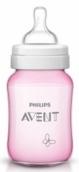 Авент бутылочка для кормления ПП 260мл Розовая бабочка, арт. 80035