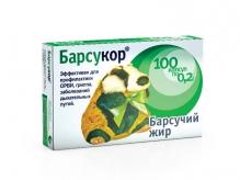 Барсукор борсуковий жир 200мг №100 капсули