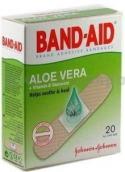 Бэнд-Эйд пластырь антисептический с алоэ и витамином Е 20шт