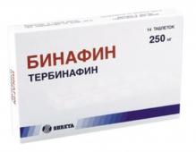 Бинафин 250мг №14 таблетки