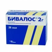 Бивалос 2г порошок для приготовления суспензии для внутреннего применения №28 саше