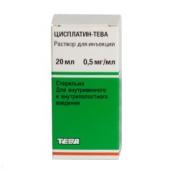 Цисплатин-Тева концентрат для приготування розчину 0,5 мг/мл 20мл №1 флакон