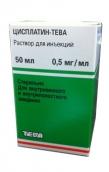 Цисплатин-Тева концентрат для приготування розчину 0,5 мг/мл 50мл №1 флакон