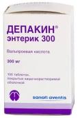 Депакин энтерик 300мг №100 таблетки