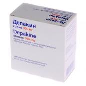 Депакин хроно 300мг №100 таблетки