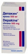 Депакин хроно 500мг №30 таблетки