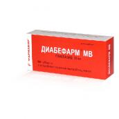 Диабефарм МВ 30мг №60 таблетки