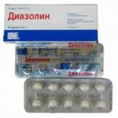 Диазолин 50мг №10 таблетки /Озон/