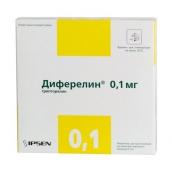 Диферелін ліофілізат для розчину 0,1 мг №7 флакони