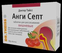 Доктор Тайсс Анги Септ вишневые №24 таблетки