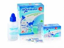 Долфин устройство для промывания носа + средство 1г для детей №30 пакетики