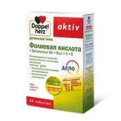 Доппельгерц актив фолиевая кислота + В6, В12,С,Е №30 таблетки