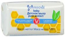 Джонсонс бебі мило антибактеріальне Pure Protect 100г
