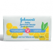 Джонсонс бебі мило з екстрактом зеленого чаю Pure Protect 100г