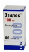 Эгилок 100мг №60 таблетки