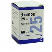 Эгилок 25мг №60 таблетки