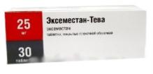 Эксеместан-Тева 25мг №30 таблетки