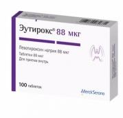Эутирокс 88мкг №100 таблетки