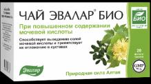 Евалар БІО чай при підвищеному вмісті сечової кислоти 1,5 г №20 фільтр-пакети