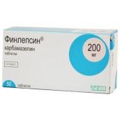 Финлепсин 200мг №50 таблетки