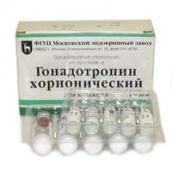 Гонадотропін хоріонічний ліофілізат для розчину 1500ЕД №5 флакони розчинник NaCl
