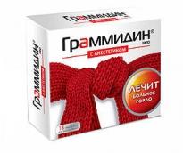 Граммидин нео c анестетиком 3мг №18 таблетки для розсмоктування