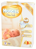 Хаггіс підгузники Elite Soft (2) 4-7кг 66шт