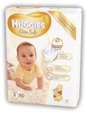 Хаггис подгузники Elite Soft (3) 5-9кг 80шт