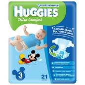 Хаггис подгузники Ultra Comfort (3) 5-9кг для мальчиков 21шт