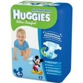 Хаггис подгузники Ultra Comfort (4+) 10-16кг для мальчиков 17шт
