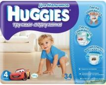 Хаггіс трусики для хлопчиків (4) 9-14кг 34шт