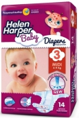 Хелен Харпер подгузники Baby midi 4-9кг 14шт