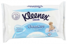 Клинекс бумага туалетная влажная Clean Care 42шт сменный блок