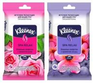 Клинекс салфетки влажные СПА релакс с ароматом розы/сакуры 10шт