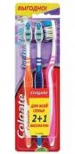 Колгейт щетка зубная зиг-заг средняя 2шт + 1шт