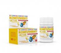 Компливит Актив витамины для детей 3-10 лет №30 таблетки жевательные банановые