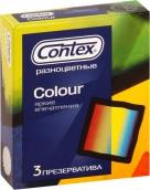 Контекс презервативы Colour цветные 3шт