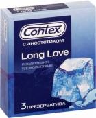 Контекс презервативы Long Love продлевающие 3шт