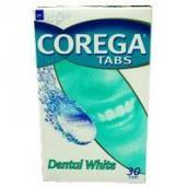 Корега таблетки отбеливающие Dental White для очистки протезов 30шт