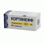 Кортинефф 0,1мг №20 таблетки