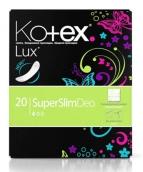Котекс прокладки ежедневные lux super slim deo 20шт