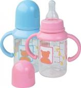 Курносики бутылочка пластиковая с ручками с сил. соской 125 мл 6мес+, арт. 11000
